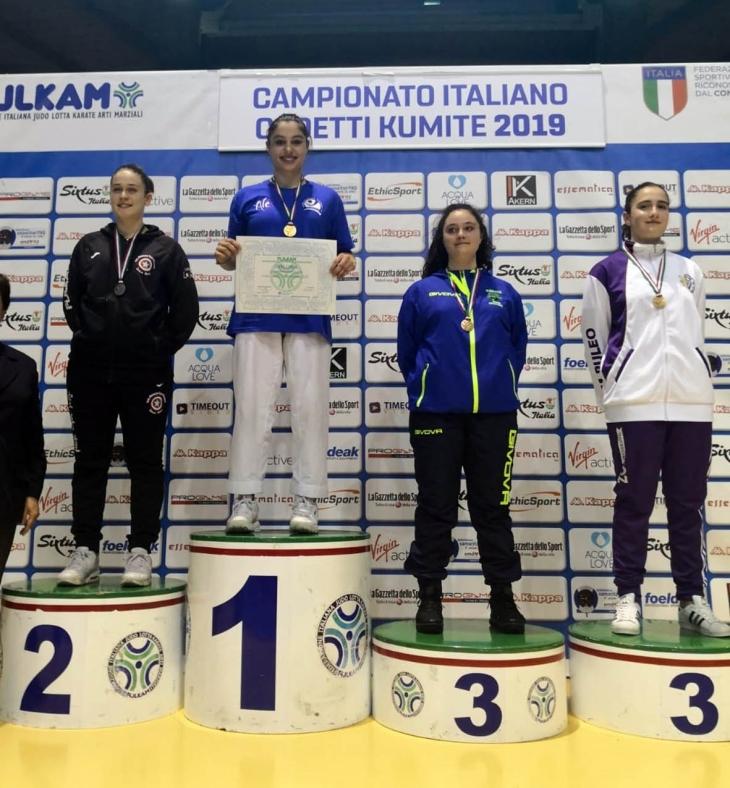 Accademia Karate Casentino - Elisa Liguri, podio (2)